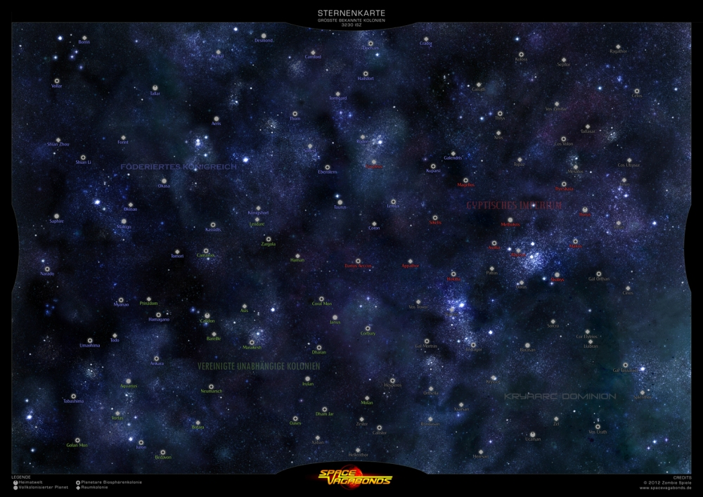 Space Vagabonds Sternenkarte