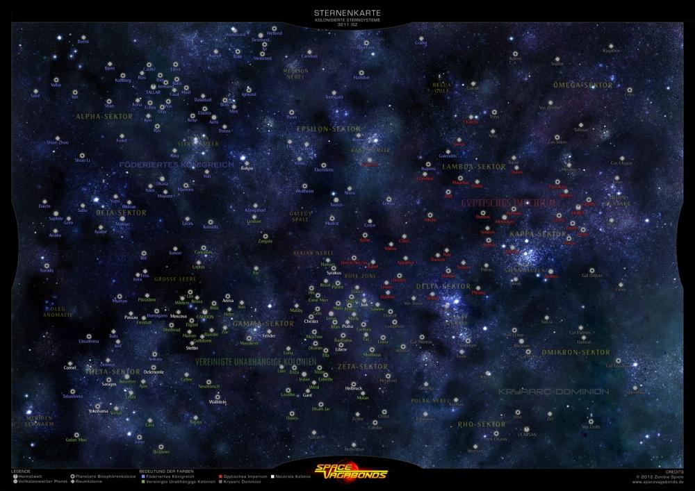 Überarbeitung der Sternenkarte